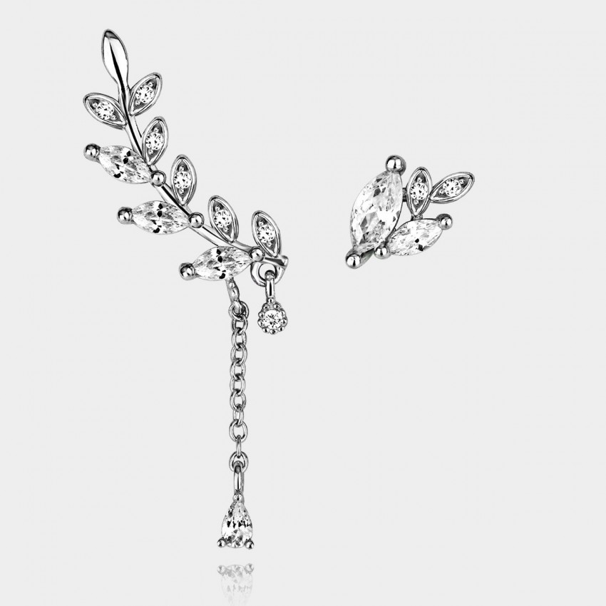 Caromay Uneven Winter Tree Silver Earrings (E0389)