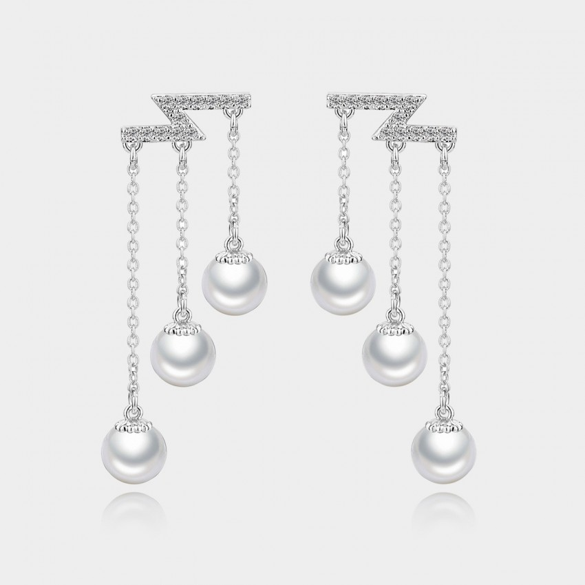 Caromay Flying Tears Silver Earrings (E0477)