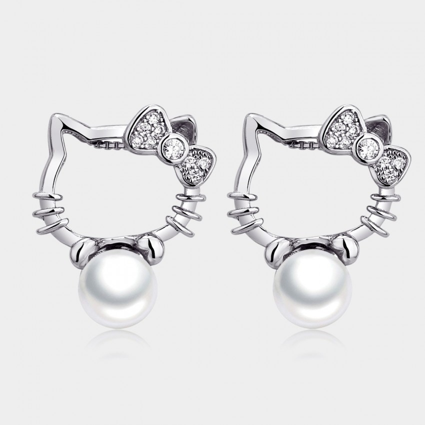 Caromay Kitty Silver Earrings (E0534)