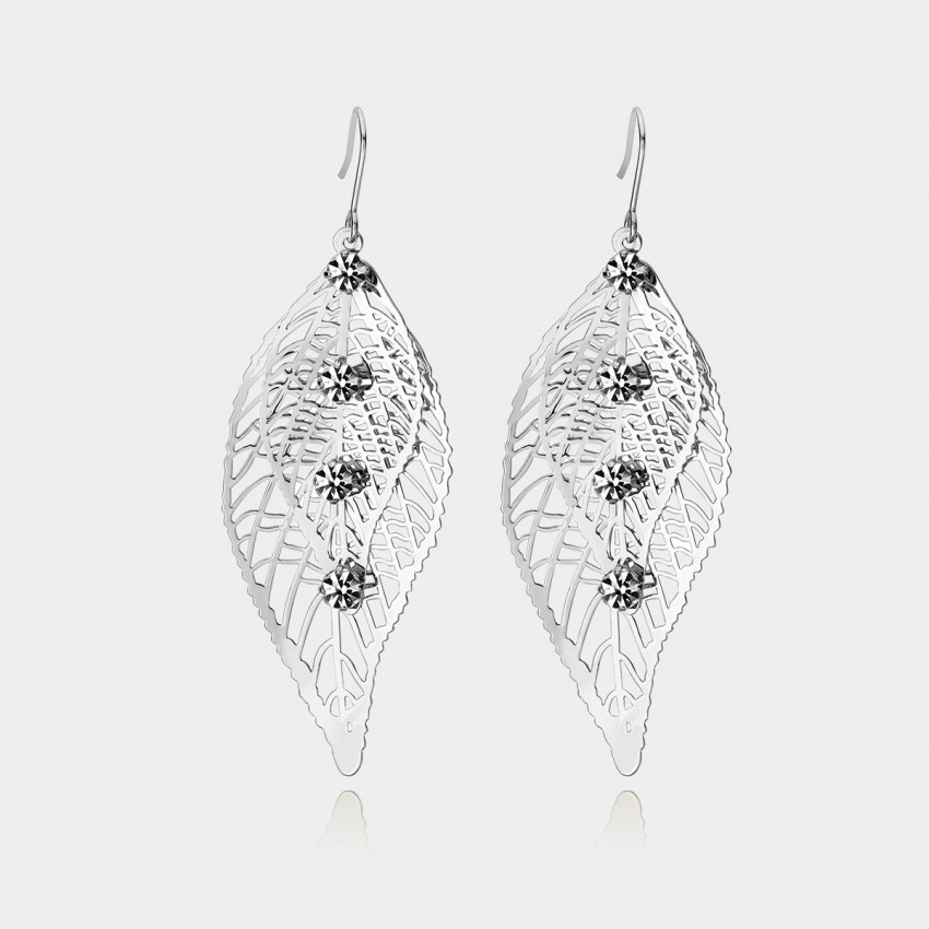 Caromay Leaf Vein Silver Earrings (E0566)