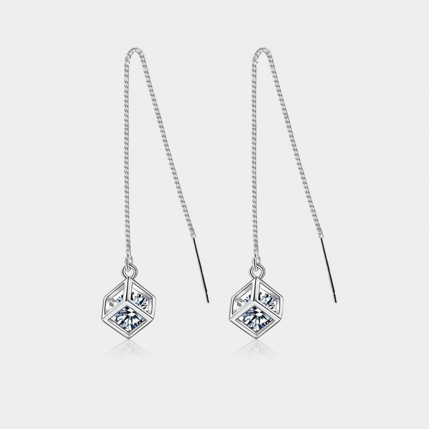 Caromay Happy Dice Silver Earrings (E0599)