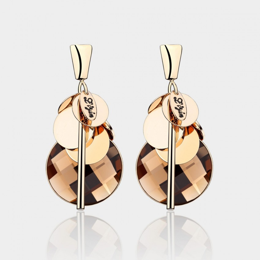 Caromay Gathering Champagne Gold Earrings (E1218)