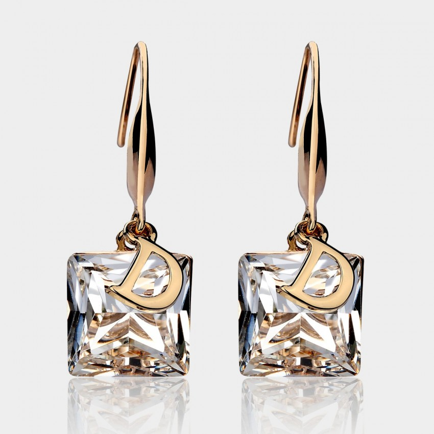 Caromay Crystal D White Earrings (E3829)