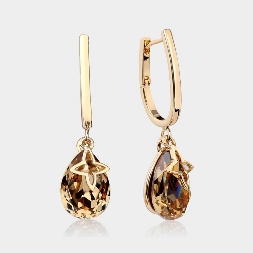 Caromay U-look Water Drop Champagne Gold Earrings (E3870)