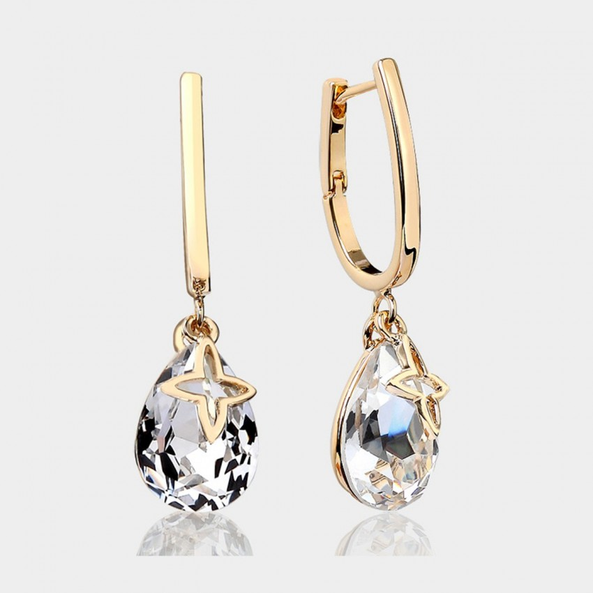 Caromay U-look Water Drop White Earrings (E3870)