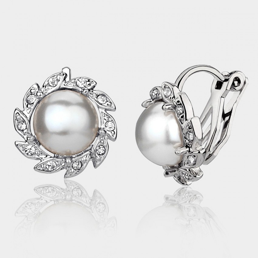 Caromay U-look Pearl Silver Earrings (E3895)