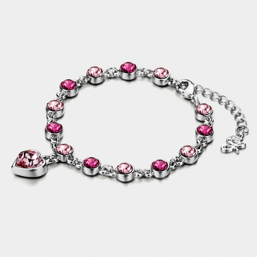 Caromay Heart For Love Pink Bracelet (H0086)