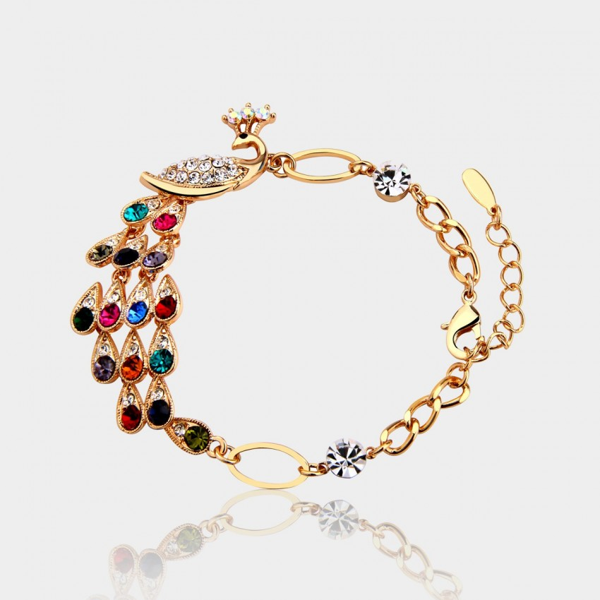 Caromay Colorful Peacock Multi Bracelet (H1078)