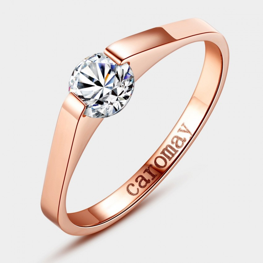 Caromay Love Bridge Rose Gold Ring (J0108)