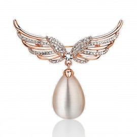 Caromay Spreading Wings Rose Gold Brooch (T0014)