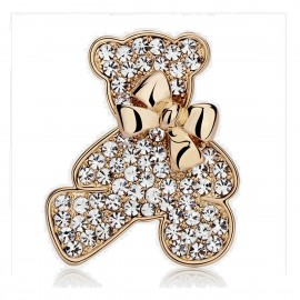 Caromay Cute Bear Champagne Gold Brooch (T1100)
