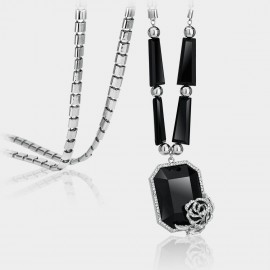 Caromay Love Punch Silver Long Chain (X0232)