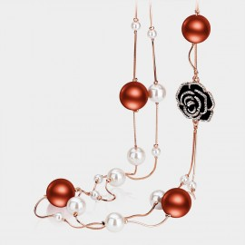 Caromay Lustrous Rose Red Long Chain (X0279)