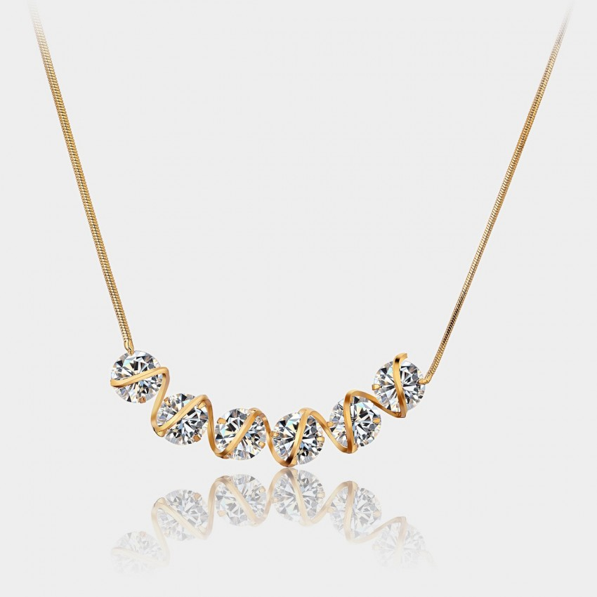 Caromay Stream Champagne Gold Necklace (X0413)
