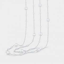 Caromay Waterfall Silver Long Chain (X0502)