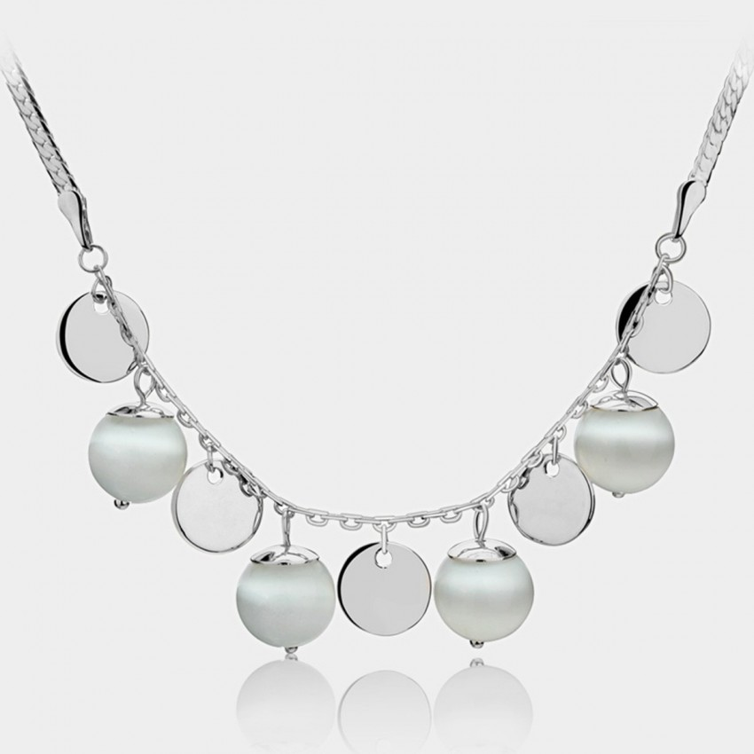 Caromay Bead Curtains Silver Necklace (X0712)