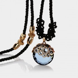 Caromay Crystal Mirror Blue Long Chain (X1033)