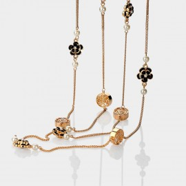 Caromay Camellia Multi-layer Black Long Chain (X1084)