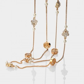 Caromay Camellia Multi-layer White Long Chain (X1084)