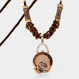 Caromay Secret Garden Champagne Gold Long Chain (X3807)