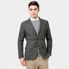 Basique Knitted Grey Jacket (06.0011)