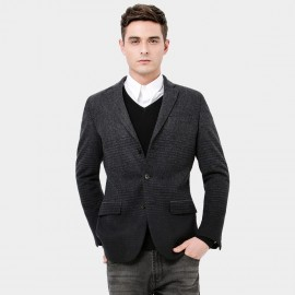 Basique Striped Charcoal Jacket (06.0012)