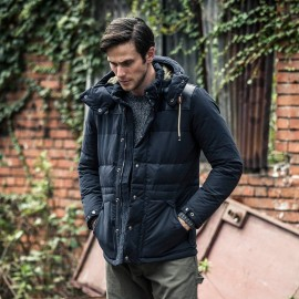 AK Casual Hooded Warm Power Navy Down Jacket (1511802)